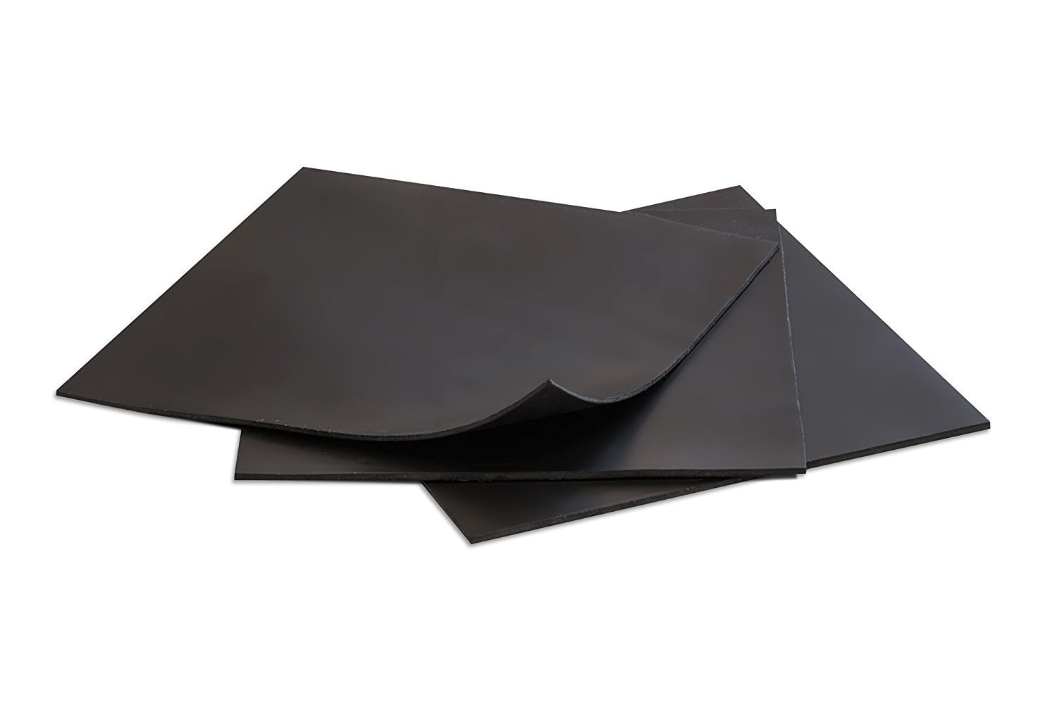 6 x 6 Square Pack of 3 Sterling Seal /& Supply 7530BLK.0312.6x6x3xAZ Teflon Sheet FDA Approved 1//32 Thick Dull Black