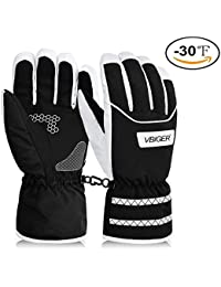 Snow Gloves -30°F Thermal Winter Ski Gloves Waterproof Outdoor Sports Warm Gloves for Men Women
