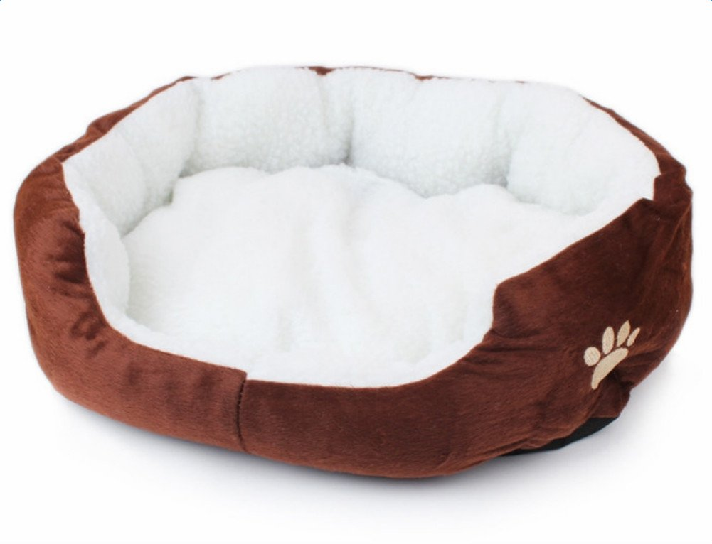 Pet bed Round or Oval Shape Dimple Fleece Bed Nesting Cave for Cats and Small