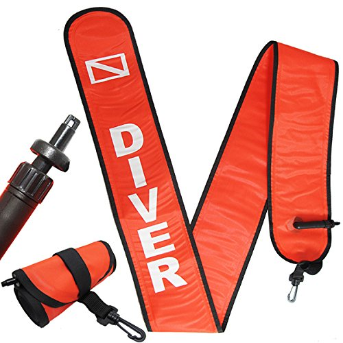 Scuba Choice Scuba Diving 6' Surface Marker Signal Tube Oral and Standard BC Hose Inflator by Scuba Choice
