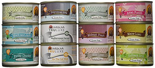 Weruva Variety Pack Grain-Free Canned Cat Food (Pack of 12, 3 ounce - Cat Ham