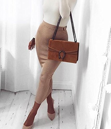 cross Camel purse leather Italian designer chain bag body suede flap evening RACHEL bag genuine fO5q5