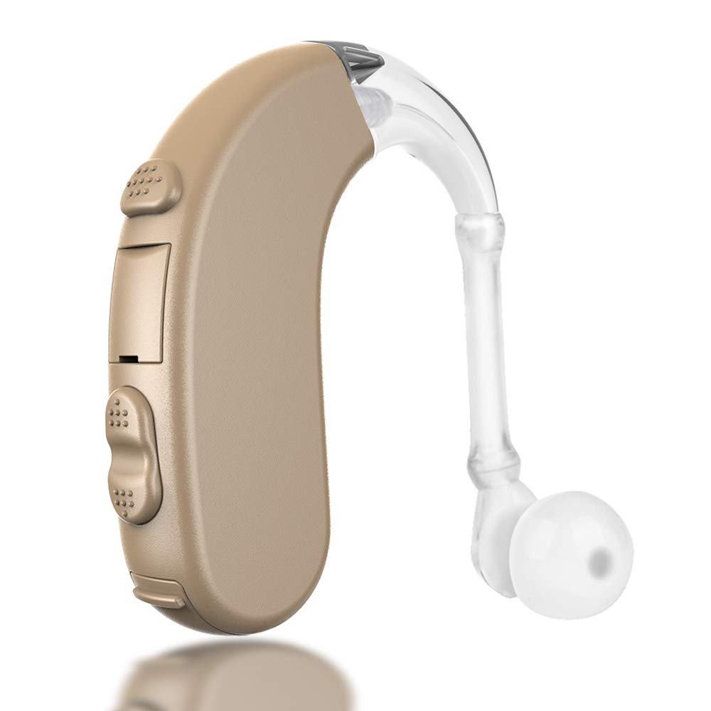 Coniler Hearing Amplifier with Batteries for Adults and Seniors, BTE Digital Sound Amplifier Wearing in Both Ear with Noise Reduction