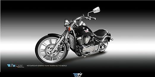 dimotiv DMV especial Radiador Cubierta Protectora para Kawasaki VN900 Classic 2006 - 15/VN900 Custom 2007 - 15 - Oro: Amazon.es: Coche y moto