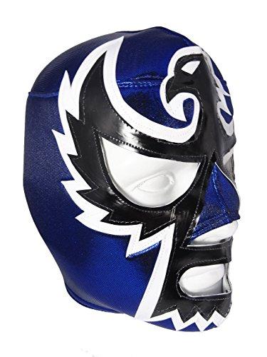 [HALCON NEGRO Adult Lucha Libre Wrestling Mask (pro-fit) Costume Wear - Blue] (Custom Wrestling Costumes)
