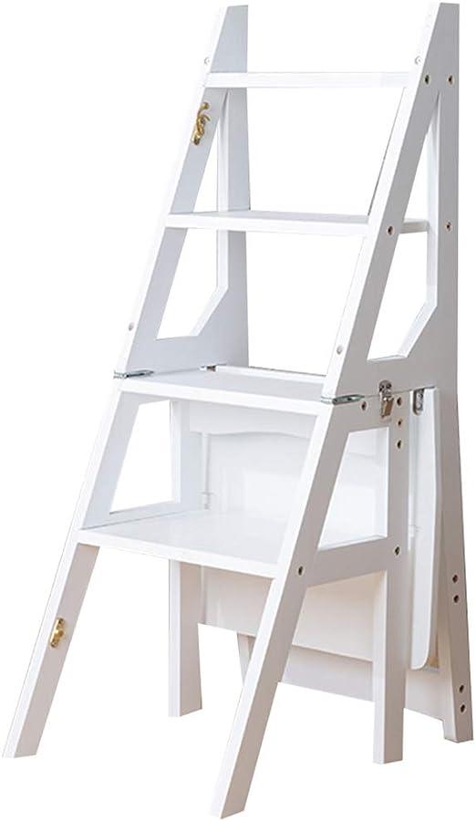 LILVLI-HAN Inicio Escalera Silla Madera Maciza Plástico de bambú Multi-deformación Escalera de Mano Escaleras Simples Multifunción Creativo Interior Escaleras ascendentes,F: Amazon.es: Hogar