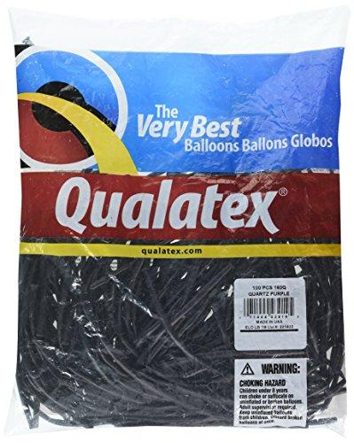 Qualatex 43914 Quartz Purple Latex Balloons, 160Q, Purple, Pack of 100