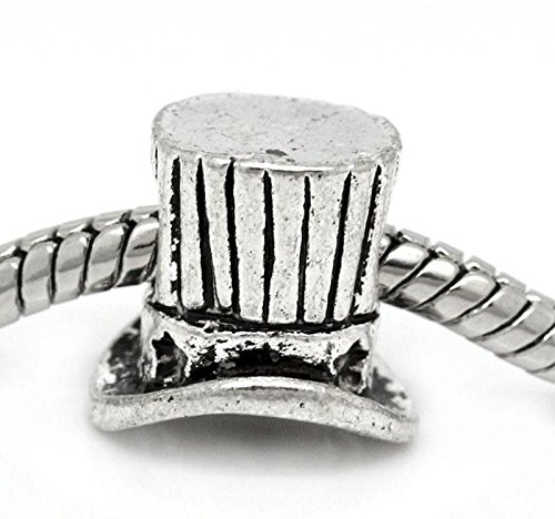 - Pendant Jewelry Making Top Hat Uncle Sam American USA Patriotic Charm for Silver European Bead Bracelet
