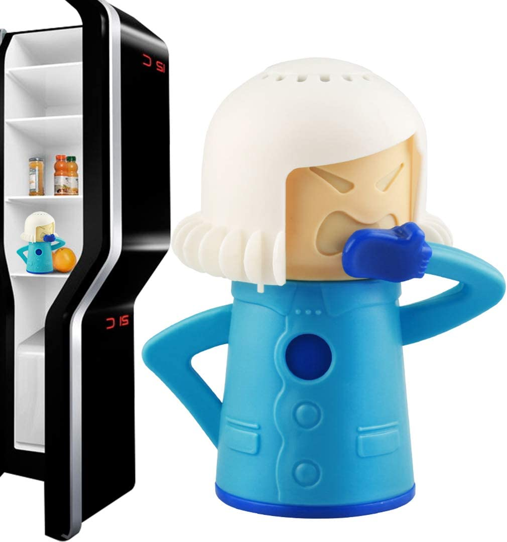 Cool Mama Fridge Deodoriser Cleaner Freezer Odor Freshener Remover, Just Add Baking Soda, Perfect Gift- Blue