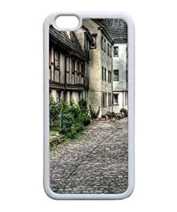 VUTTOO Iphone 6 Case, Old City Street Architecture TPU Rubber Case for Apple iPhone 6 4.7 Inch White Bumper