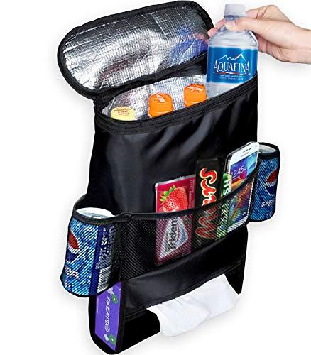 Decor Hut Car Back Seat Organizer with Cooler/Heat Preservation Multi  Pocket Travel Storage Bag Mesh Pockets & Tissue Holder
