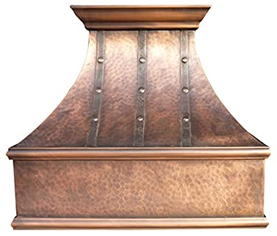 "Sinda H7LTR Copper Range Hood with Profession Liner & Internal Motor 30"" / 36"" / 42"" / 48"" Wall Mount (W30"" x H27"" Wall)"
