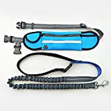 WishLotus Waist Pet Leash Outdoor Running Free-Hand Adjustable Waist Belt Waterproof and Nylon Retractable Dog Leash Suitable for Most of Dogs (Blue)