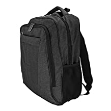 DALIX Signature Laptop Backpack with Multiple Pockets in Black