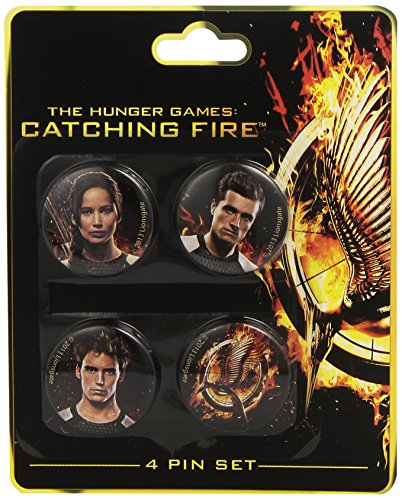 NECA The Hunger Games: Catching Fire Victors Pin Set (4-Piece) (Katniss Mockingjay Pin)