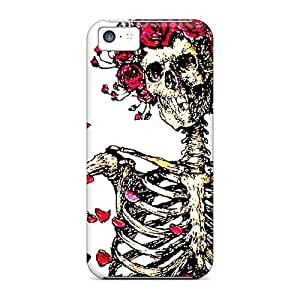 JamesKrisky Iphone 5c Protective Hard Phone Case Customized Vivid Grateful Dead Image [gwq424CWOB]
