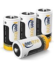 Keenstone 4 stuks Oplaadbare Batterijen C LR14 5000mAh 1.2V, Ni-MH Type C Baby C Oplaadbare Batterij 1200 Cycli Ultra Power en Hoge Prestaties Met Opbergdoos