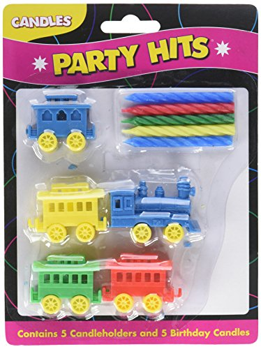 (Oasis Supply Train Candle Holder Birthday Candles)