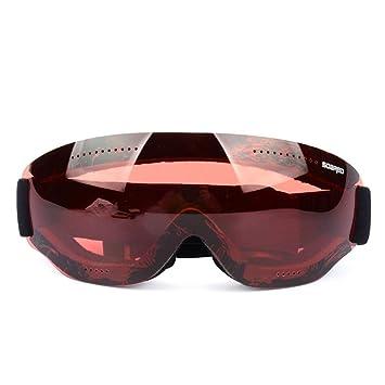 XBECO Gafas De Esquí Sin Marco Antivaho Polarizado Protección UV400 Gafas De Nieve Casco Compatible para El Snowboard Esquí Skate Adulto Y Niños,Brown: ...