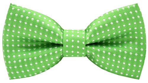 Carahere Handmade Little Boy's Bow Ties M012 Green (Green Polyester Boys Ties)