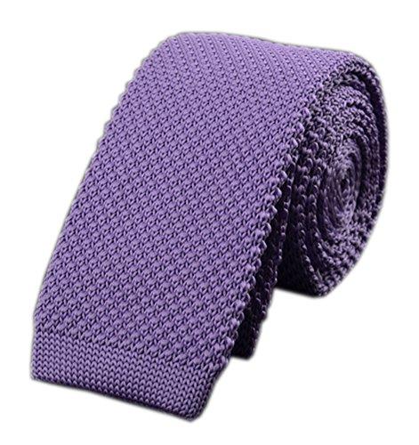 (Men's Light Purple Style Knit Neck Ties Summer Lavender Soft Violet Suit Necktie)