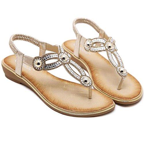 XIAOLIN サマークリップトウサンダル女性韓国人中空ダイヤモンドフラットボトムオープントゥビーチシューズ学生靴の潮(3色可能)(オプションのサイズ) (色 : 03, サイズ さいず : EU40/UK7/CN41)