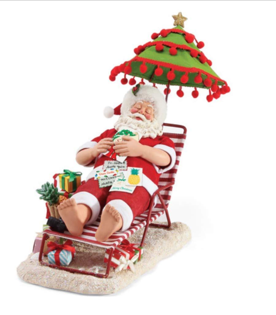 Department 56 Possible Dreams Santas by The Sea Tropical Snooze Figurine 11.5'' Multicolor