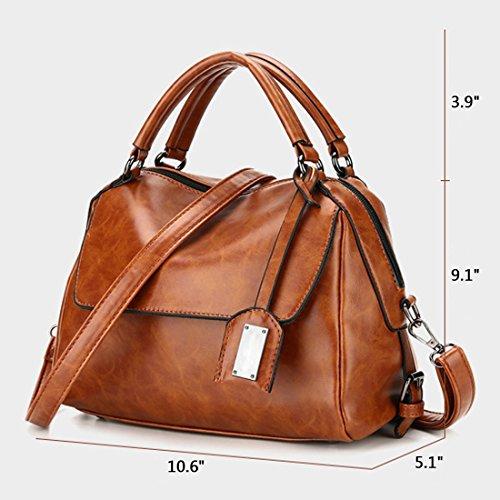 YYW Leather Shoulder Bag - Bolso mochila  para mujer Rosa