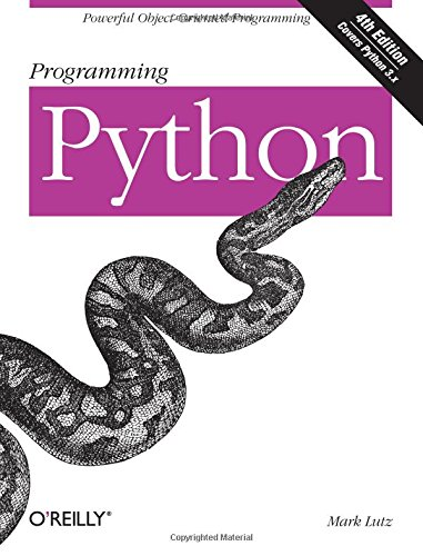 Book cover of Programming Python: Powerful Object-Oriented Programming by Mark Lutz