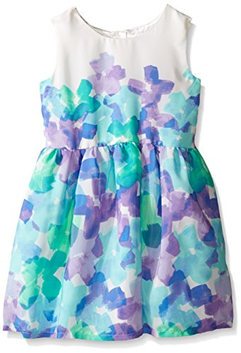 Aqua Floral Dress (The Children's Place Baby Toddler Girls' Sleeveless Casual Dresses, Mellow Aqua 7516, 2T)