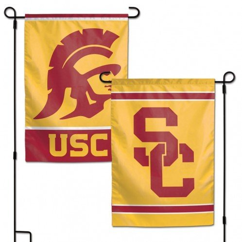 Trojans Tailgate Flag Usc (NCAA University of Southern California USC 12.5 x18 Inch 2-Sided Outdoor Garden Flag Banner)