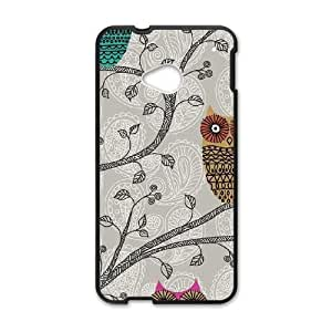 Spring Owls HTC One M7 Cell Phone Case Black DIY present pjz003_6355727