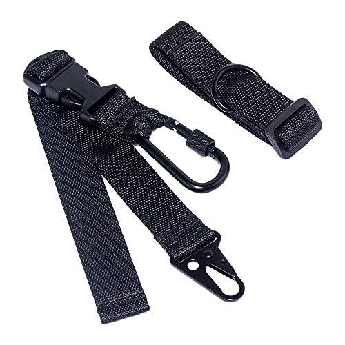 Backpack Gun Sling Rifle Strap with Loop Sling Adapter Adjustable Length HK Hook