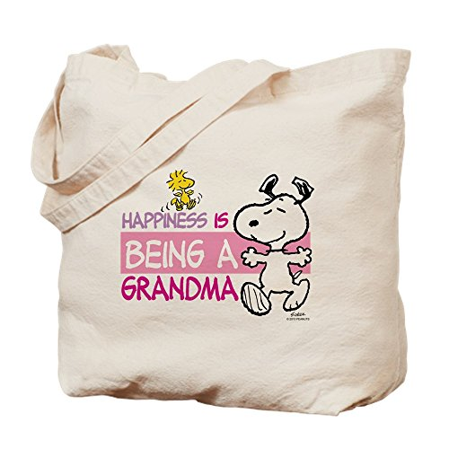CafePress–la felicidad es ser un Grandma–Gamuza de bolsa de lona bolsa, bolsa de la compra