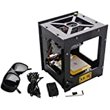 Sunwin USB DIY 300mw Laser Cutting Engraving Machine Printer Engraver Logo Picture (300mw with Engraving Preview ON/OFF Button(Black))