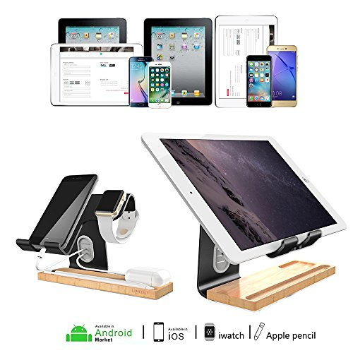 LAMEEKU Compatible Cell Phone Stand Replacement for Apple Watch Stand, Desktop Cell Phone Stand For all Android Smartphone, iPhone X 6 6s 7 8 Plus, Samsung, Apple Watch 38mm 42mm, iPad Airpods - Black by LAMEEKU (Image #8)