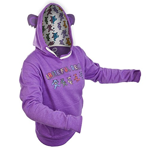 [Grateful Dead - Womens Dancing Bear Juniors Costume Hoodie x-Large Purple] (Junior Dance Costumes)