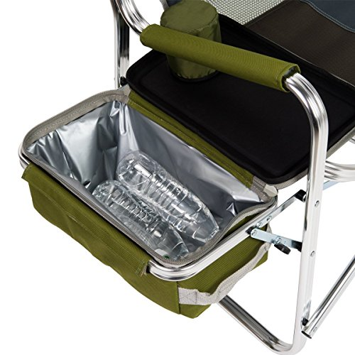 Timber Ridge Portable Lightweight Utility Folding Camping Cooler Bag Director's Chair Supports 300lbs