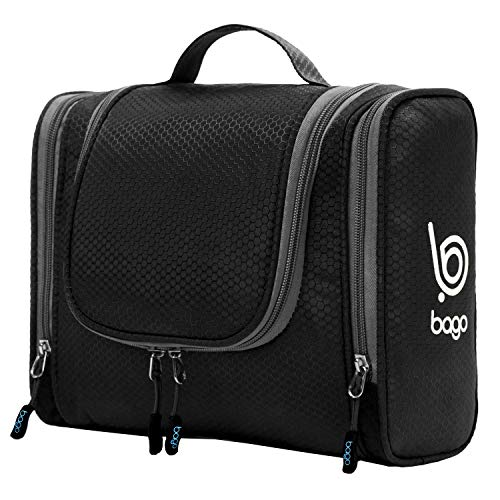 Bago Hanging Toiletry Bag for Women Travel Cosmetic Bag , Black Deal (Large Image)