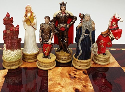 Medieval Chess Boards - King Arthur / Sir Lancelot Medieval Times Camelot Chess Men Set- NO BOARD