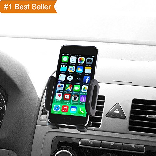 Connect Cradle (Audiology Connect Universal Air Vent Car Mount Cradle, Smartphone Car Mount, Car Phone Mount Compatible with iPhone, Android smartphone, and GPS devices: iPhone 8/8Plus/7/7Plus/6s/6P/5S, Galaxy S5/S6)