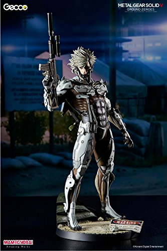 [ SDCC2015 / beans torpedo Distribution Limited ] Metal Gear Solid V ground Zerozu ' Jamevu Mission ' / Raiden 1/6 Scale Statue White Armor Ver. by GECCO