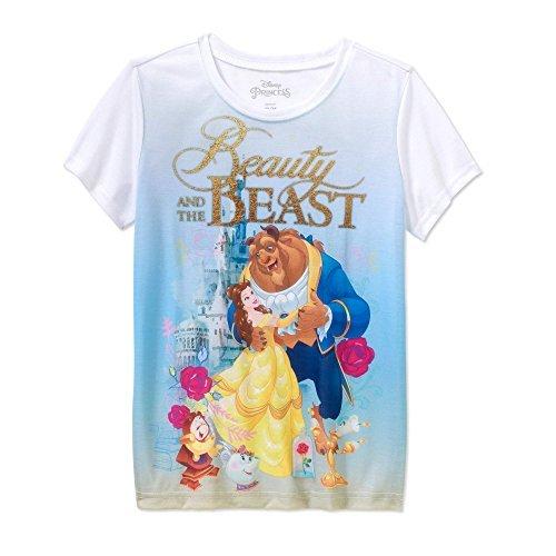 - D Disney Princess Disney Princess Beauty and The Beast Graphic Tee Shirt For Girls (14/16)