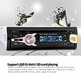 FidgetFidget Universal Auto Car Stereo Radio CD DVD VCD MP3 Player FM Aux Input SD/USB E7Y9