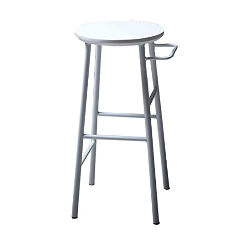 Swell Amazon Com White Bar Stool Rustic Breakfast Kitchen Counter Ibusinesslaw Wood Chair Design Ideas Ibusinesslaworg