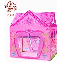 Kids Pink Tent PLAY10 Flower Playhouse for Girls Foldable...