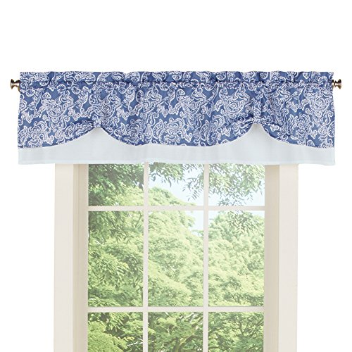 (Collections Paisley Pattern Rod Pocket Curtain Window Valance Topper,)