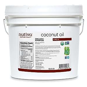 Nutiva Organic Virgin Coconut Oil (8-Pound), 1-Gallon Tub