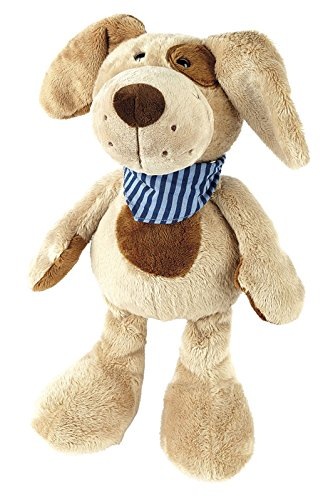 sigikid, Mädchen und Jungen, Stofftier Hund groß, Fuffi Wuff, Sweety, Beige/Blau, 37756
