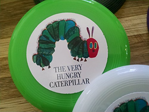 Unbranded 12 Hungry Caterpillar Mini frisbees, Birthday Party Favors, Goodie Bag loot
